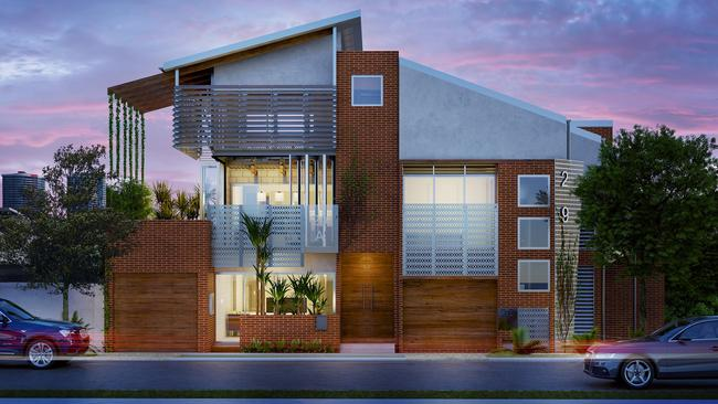 An artist's impression of the Envi terrace home development.