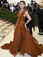 Paris Jackson attends the Heavenly Bodies: Fashion and The Catholic Imagination Costume Institute Gala at The Metropolitan Museum of Art on May 7, 2018 in New York City. Picture: AP