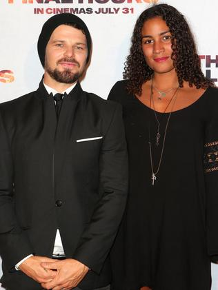 Phillips and his girlfriend Lea Pakiry Rocha attend the  <i>These Final Hours </i>premiere in Sydney.