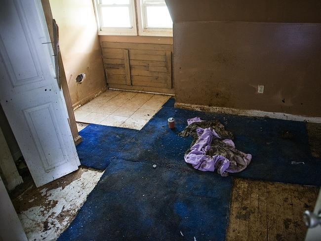 Tragic end ... The room, covered in faeces, where the boy was kept in at his home in Harrisburg. Picture: AP