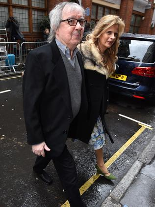 Bill Wyman and Suzanne Wyman arrive for the wedding. Picture: Ben Pruchnie/Getty