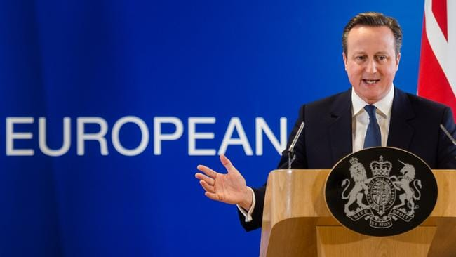 Are the Brits as enthusiastic about Europe as UK Prime Minister David Cameron? Picture: AP Photo