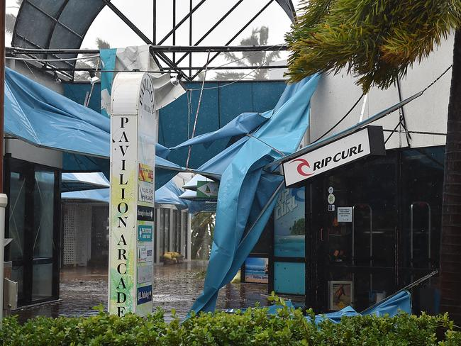 Shops have been trashed on the main street of Airlie Beach. Picture: Alix Sweeney