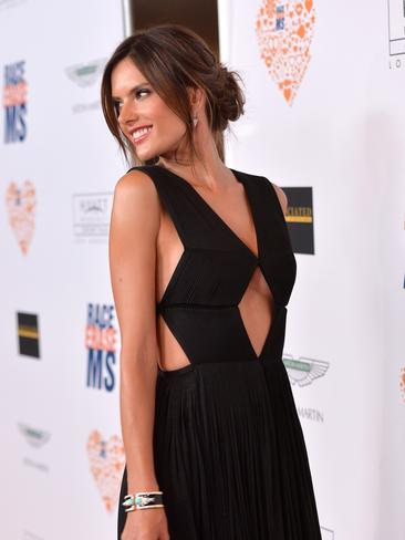 Model Alessandra Ambrosio wears a gown by Vionnet as she attends the 21st annual Race to Erase MS at the Hyatt Regency Century Plaza. Picture: Getty