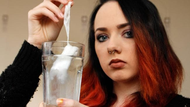 Lauren says that she has told her friends not to buy the tampons and added that she was horrified the product had managed to pass health standards.