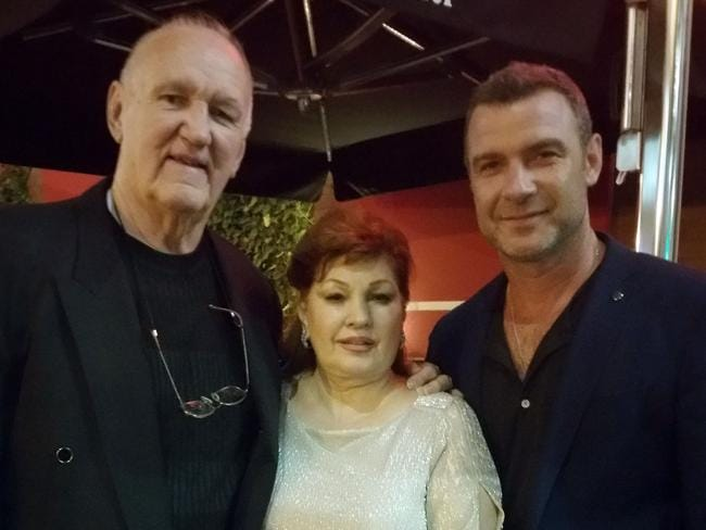 Chuck and Linda Wepner with Liev Schreiber.