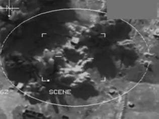 Vision from footage tweeted by the Australian Defence Force from Operation OKRA.