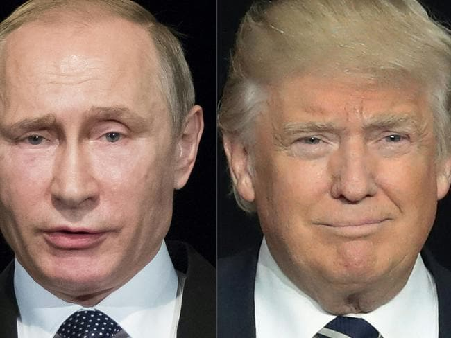 Russian President Vladimir Putin and Donald Trump have a cosy relationship. Picture: AFP