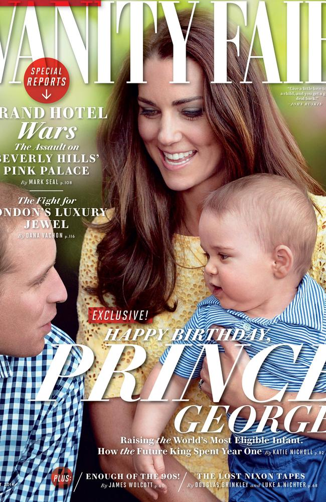 The world's most famous baby, Prince George. Picture: Vanity Fair