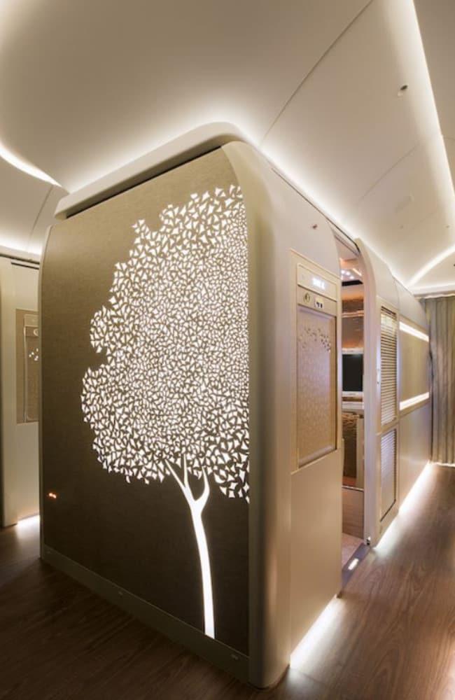 Each suite has floor-to-ceiling sliding doors. Picture: Emirates