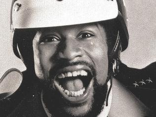 1979 file/pic of Victor Willis of the pop group, The Village People. Willis, the original policeman in the 1970s disco band, skipped a second court hearing 24/1/06, in /Redwood /City, /Calif, where he was due to be sentenced on drug and gun charges and now faces more than 3yrs in /prison.(AP PicCant/Stop/Productions) headshot music groups bands mouth open