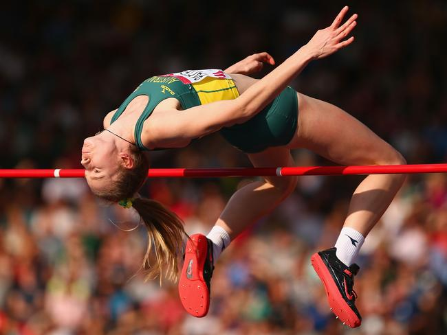 Eleanor Patterson of Australia competes in the Women's High Jump final.