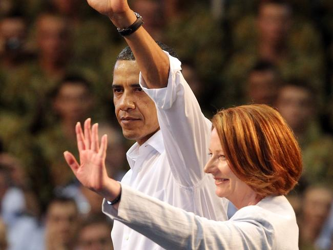 The President of the United States and former Prime Minister Julia Gillard connected when it came to climate change.