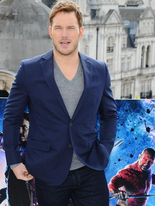 Pratt poses for the media at a  <i>Guardians</i> photocall in London. Picture: Getty