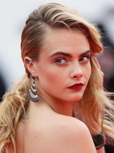 You guessed it, it's the feisty tattoo-loving Cara Delevingne. Picture: Getty