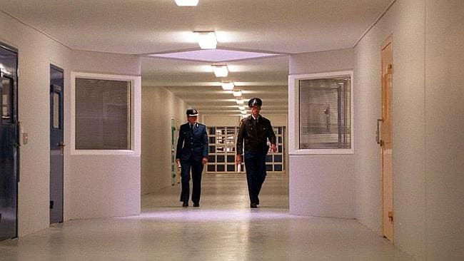 A walkway inside Silverwater remand prison. Picture: News Limited.