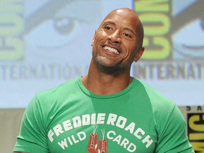 Angry ... Dwayne Johnson said he was furious upon finding out a drunken driver crashed into the car of his mother and cousin. Picture: Supplied