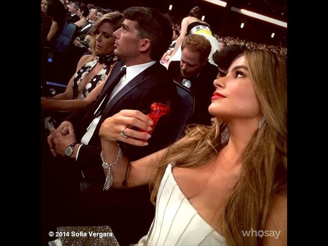 "Behind The Scenes Emmy Awards 2014... Actress Sofia Vergara posts, ""Feeling hot!"" Picture: Instagram"