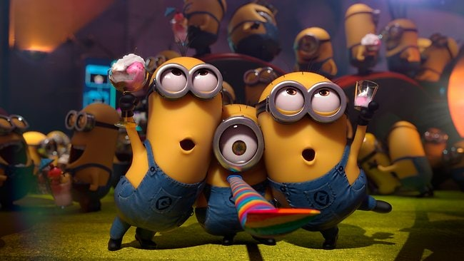 Some of the minions who star in Despicable Me 2. Picture: Supplied