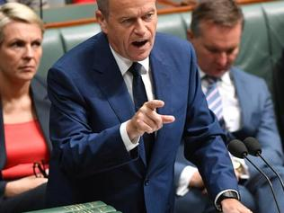 Leader of the Opposition Bill Shorten introduces legislation to reverse the Sunday penalty rates decision in the House of Representatives at Parliament House. Picture: Mick Tsikas/AAP