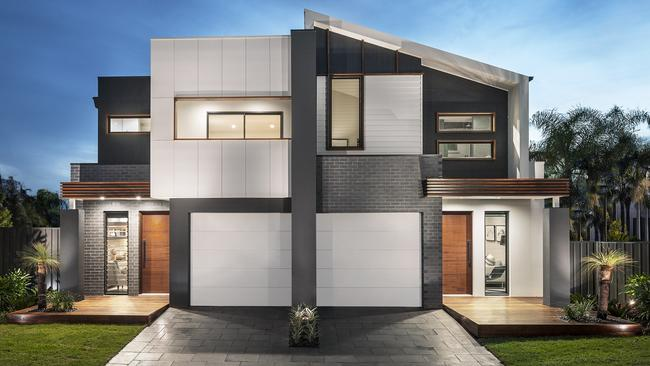 Duplex designs dual occupancy makes most of sydney blocks for Corner duplex designs