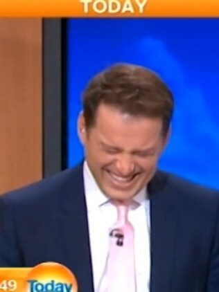 Stefanovic couldn't hold back the laughs ...