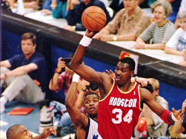 Houston Rockets centre Hakeem 'The Dream' Olajuwon.