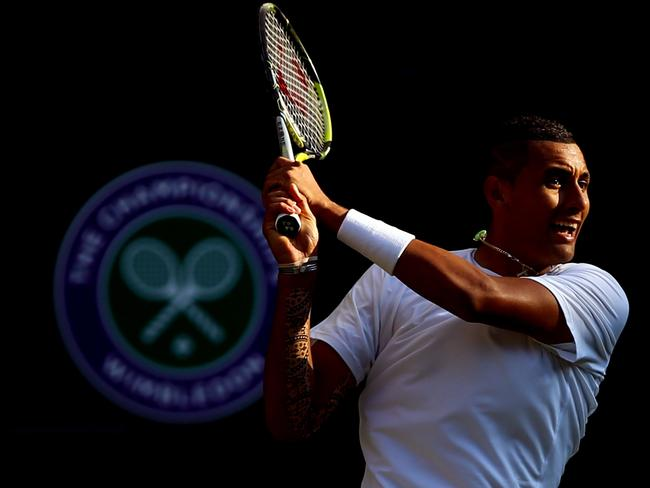 Nick Kyrgios during his Gentlemen's Singles fourth round match against Rafael Nadal.