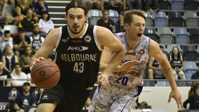 Melbourne United's Chris Goulding in action against the Sixers this season. He may not suit up in Adelaide. Picture: Christopher Chan.