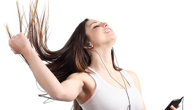 Yes, you too can enjoy your music as much as this. Just don't use those generic headphones.