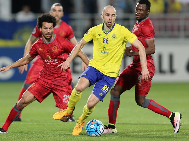 Adrian Mierzejewski in action for Al-Nassr during their AFC Champions League football match in 2016. Pic: AFP