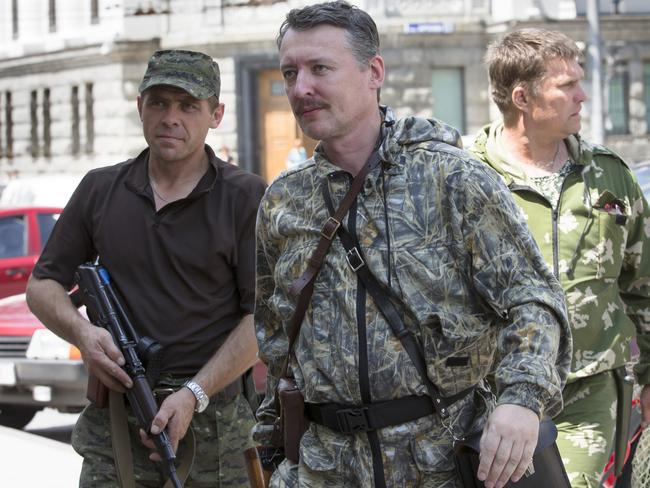 Igor the Terrible ... Igor Strelkov arrives for the wedding of platoon commander Arsen Pavlov and Elena Kolenkina in the city of Donetsk, eastern Ukraine last Friday. Picture: Dmitry Lovetsky