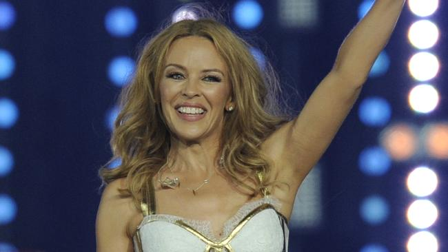 Kylie Minogue performs during the closing ceremony of the 2014 Commonwealth Games.