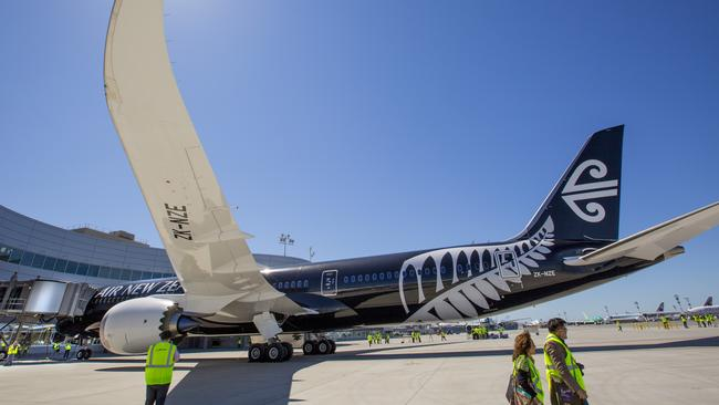An Air New Zealand Boeing 787-9 Dreamliner.