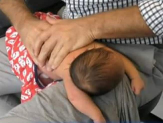 The distressing video of Dr Rossborough cracking a four-day-old baby's back received widespread criticism in April 2016.