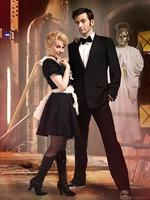 Kylie Minogue (as Astrid Perth) and David Tennant as the Doctor in TV show Doctor Who. Dr Who.