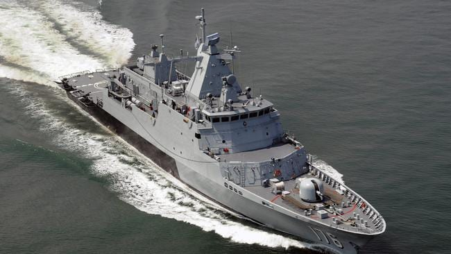 Shipbuilding plan ... the government will sign off on a strategy to urgently beef up Australia's navy.