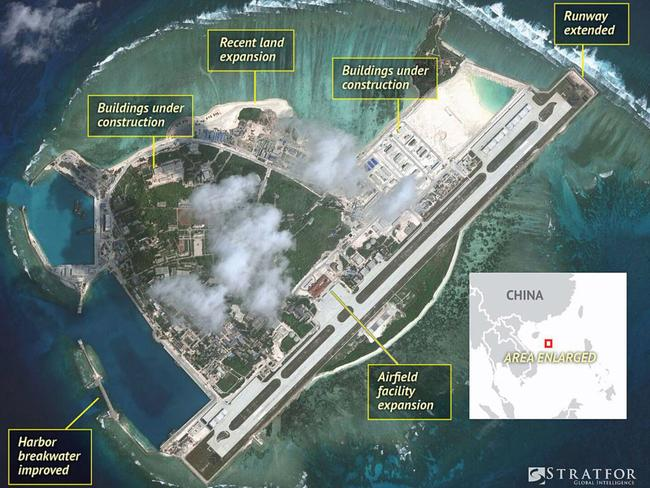 China's military base on Woody Island. Picture: Stratfor