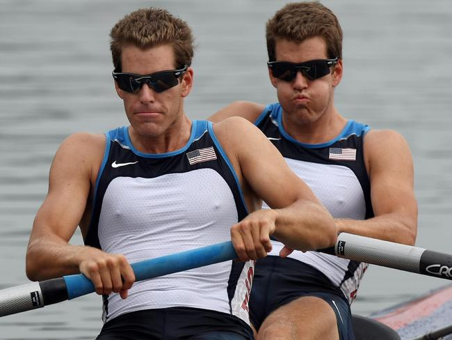 The Winklevoss twins aren't just Olympic rowers who claim they invented Facebook ... they're also mighty rich on the back of bitcoin too. Picture: Mustafa Ozer / AFP