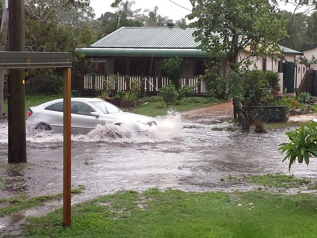 Umina Beach, NSW, 3pm: The flooding begins to hit parts of NSW, turning roads to swamps.