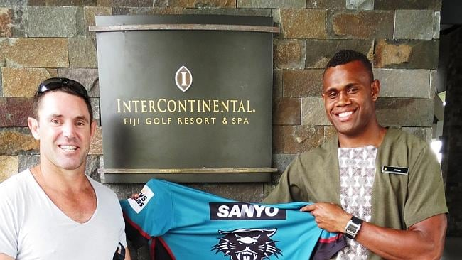Fijian hotel porter Etonia Nabuli who was signed by the Penrith Panthers on the recommendation of Brad Fittler.