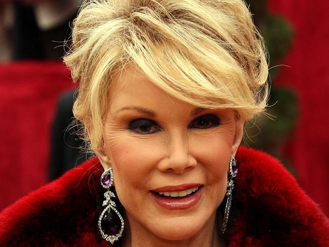 Joan Rivers at the Oscars in 2007. Pic: Getty.