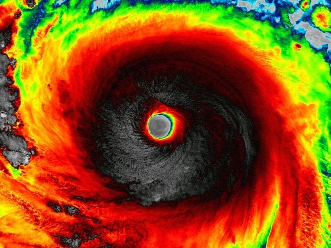 Eye of a tiger: Super Typhoon Soudelor is just scary. Pic: NASA.