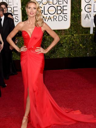 Model entrance ... supermodel and reality TV star Heidi Klum. Picture: Getty Images