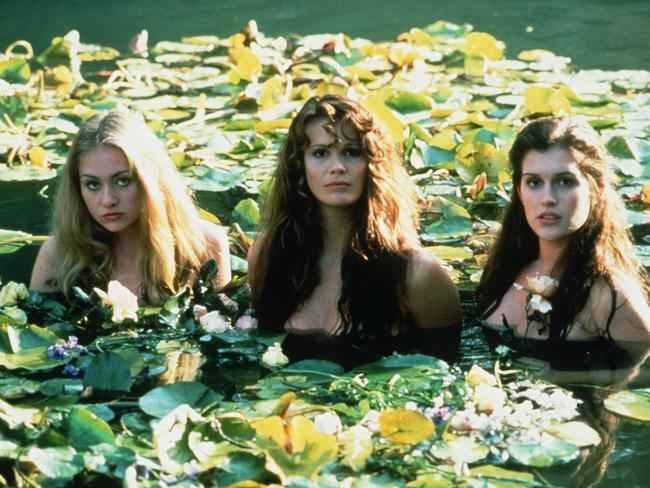 Sexy screen stars ... Portia de Rossi with Elle Macpherson and Kate Fischer in scene Sirens. Picture: Supplied