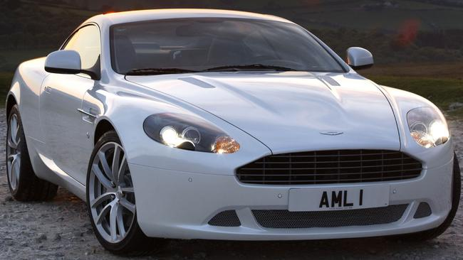Stretching the friendship: Gow borrowed Peter Lonard's Aston Martin DB9. Pic: Supplied.