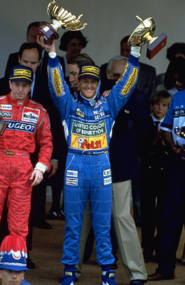 Schumacher after winning the 1994 Monaco Grand Prix.
