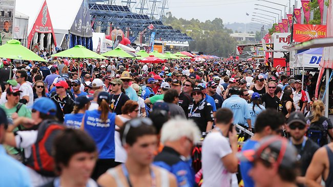 Crowds have flocked to Homebush for the Sydney 500 since the event started. Picture: Brett Costello