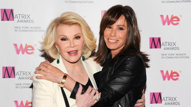 Dynamic duo ... Joan Rivers and her daughter Melissa worked together on numerous occasions over the years. Picture: AP