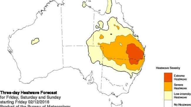 "The ""extreme heatwave"" will hit southern Queensland and northern NSW."